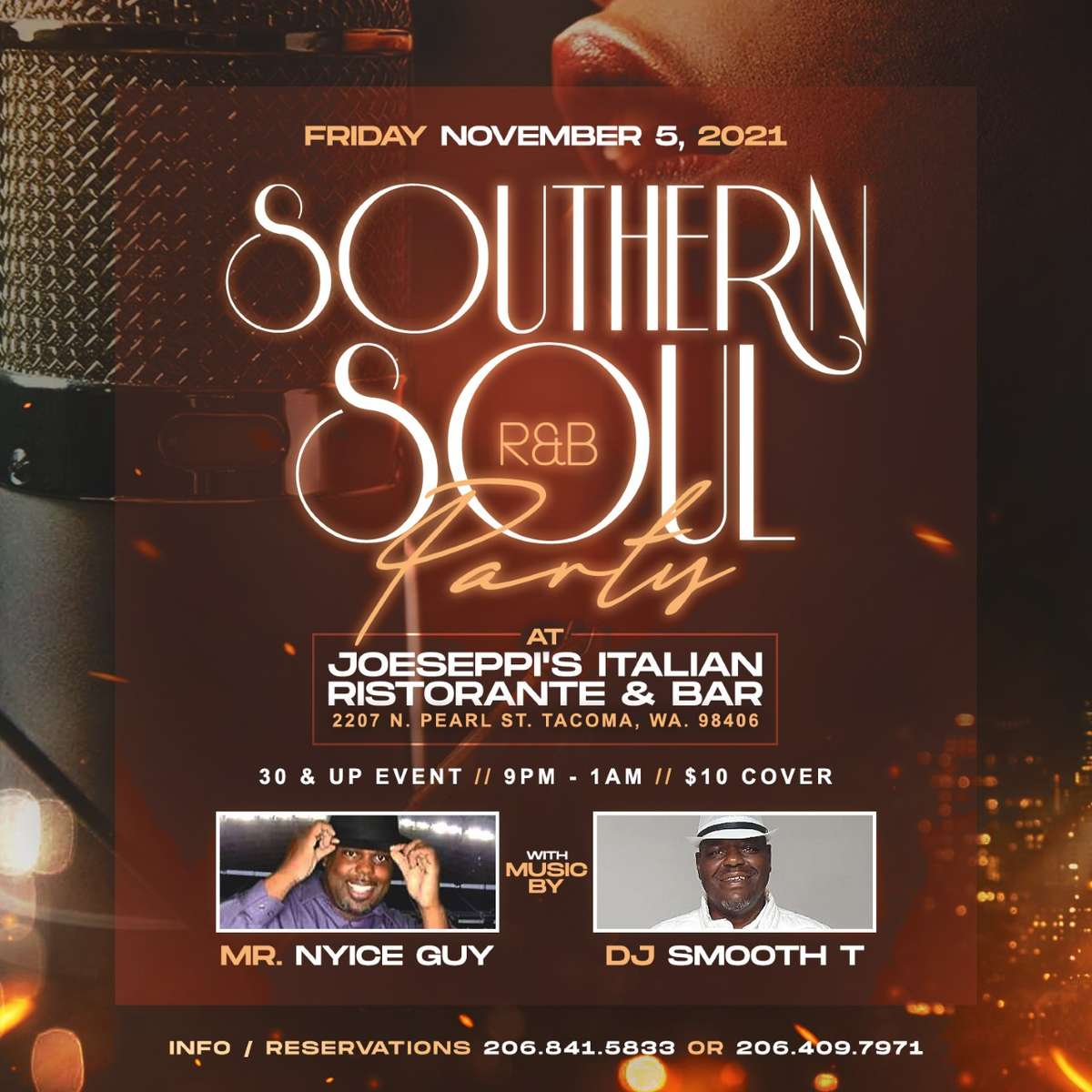 SOUTHERN SOUL PARTY live at Piacere, the Lounge at Joeseppi's Italian Ristorante in Tacoma, WA