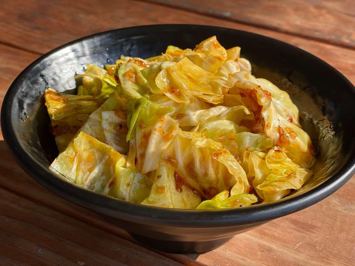 Thai Stir-Fried Cabbage (GF) (galam plee pad nam pla)