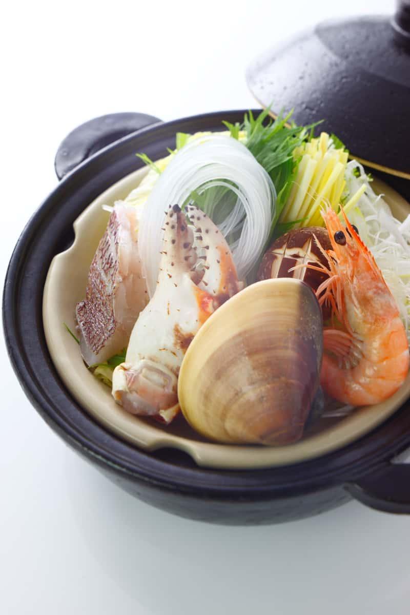 clams and shrimp