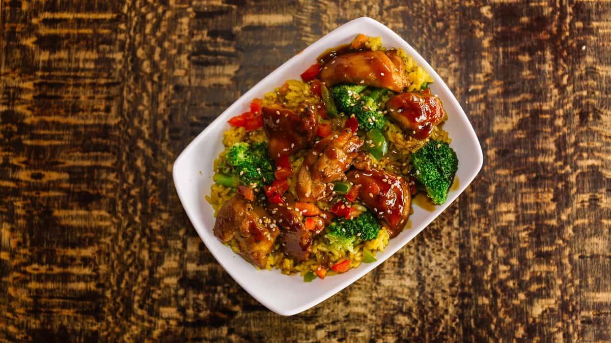 Loaded Teriyaki Chicken Fried Rice