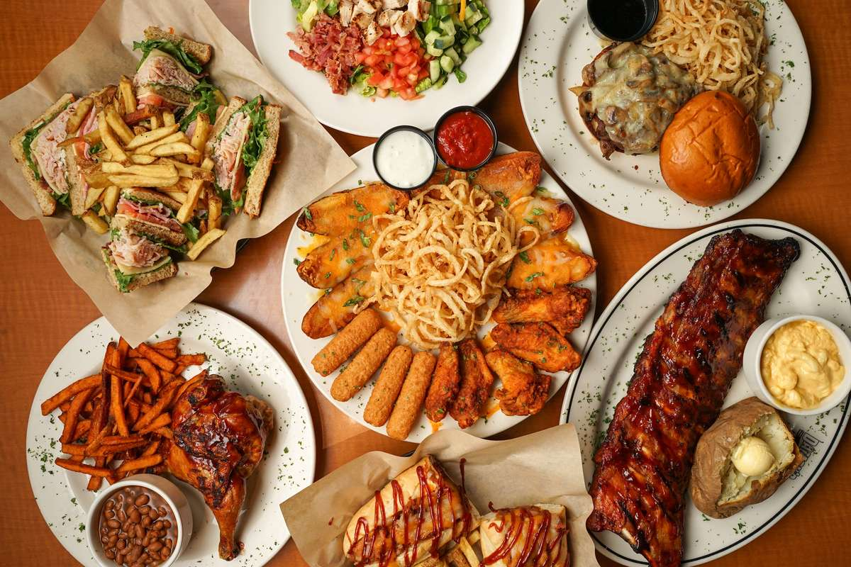 Spread of Damon's entrees and sampler