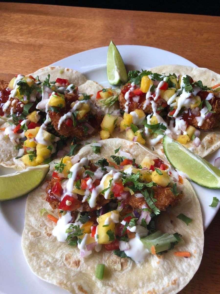Pina Colada Shrimp Tacos