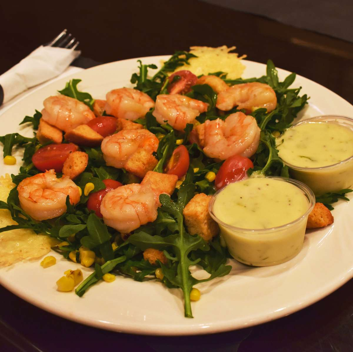 Grilled Shrimp & Arugula Salad