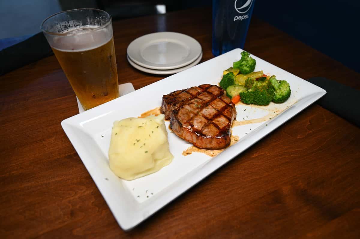 grilled pork chop