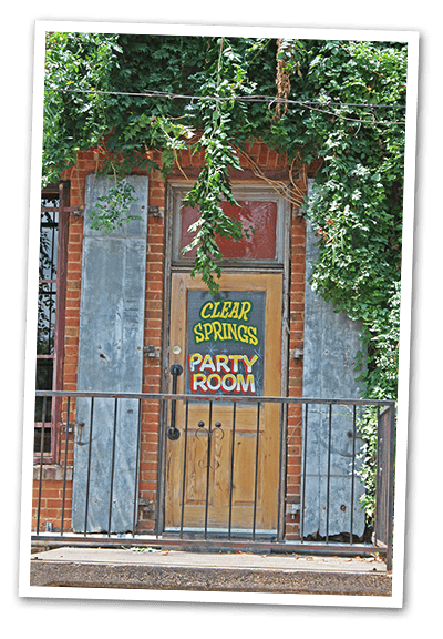 Party Room sign
