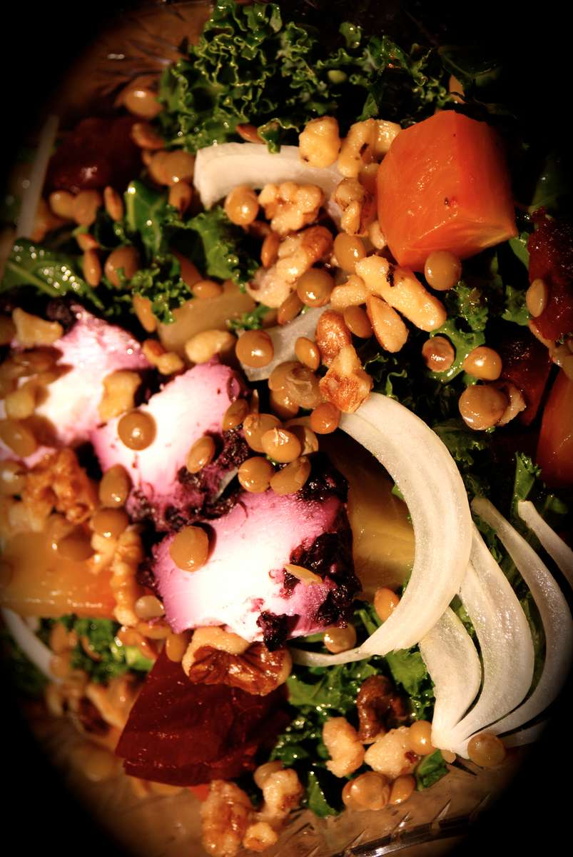 Beet, Kale and Goat Cheese