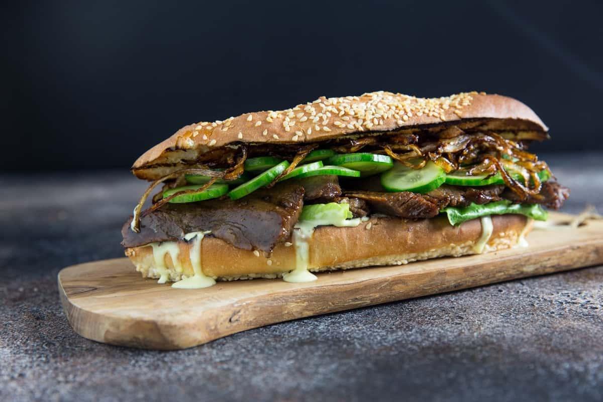 Platter 10 Pepito Steak Sandwiches, Halves