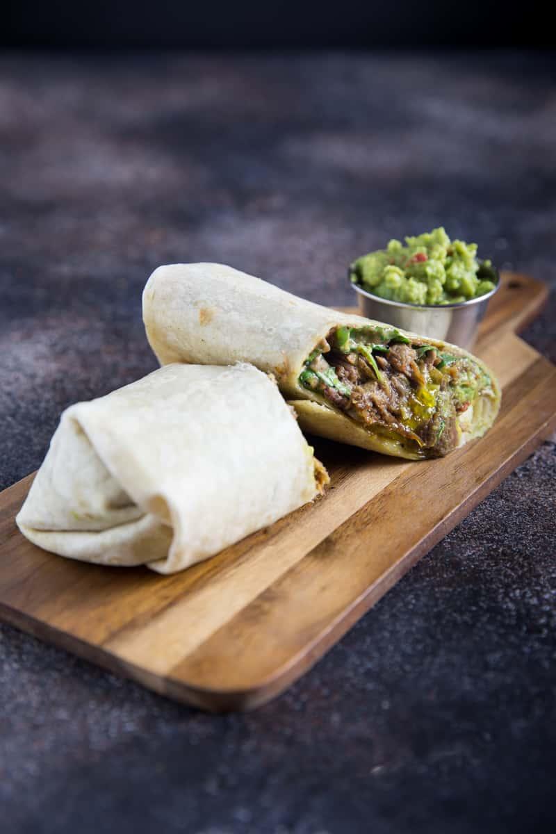 Platter 10 Pulled Beef Burritos, Halves