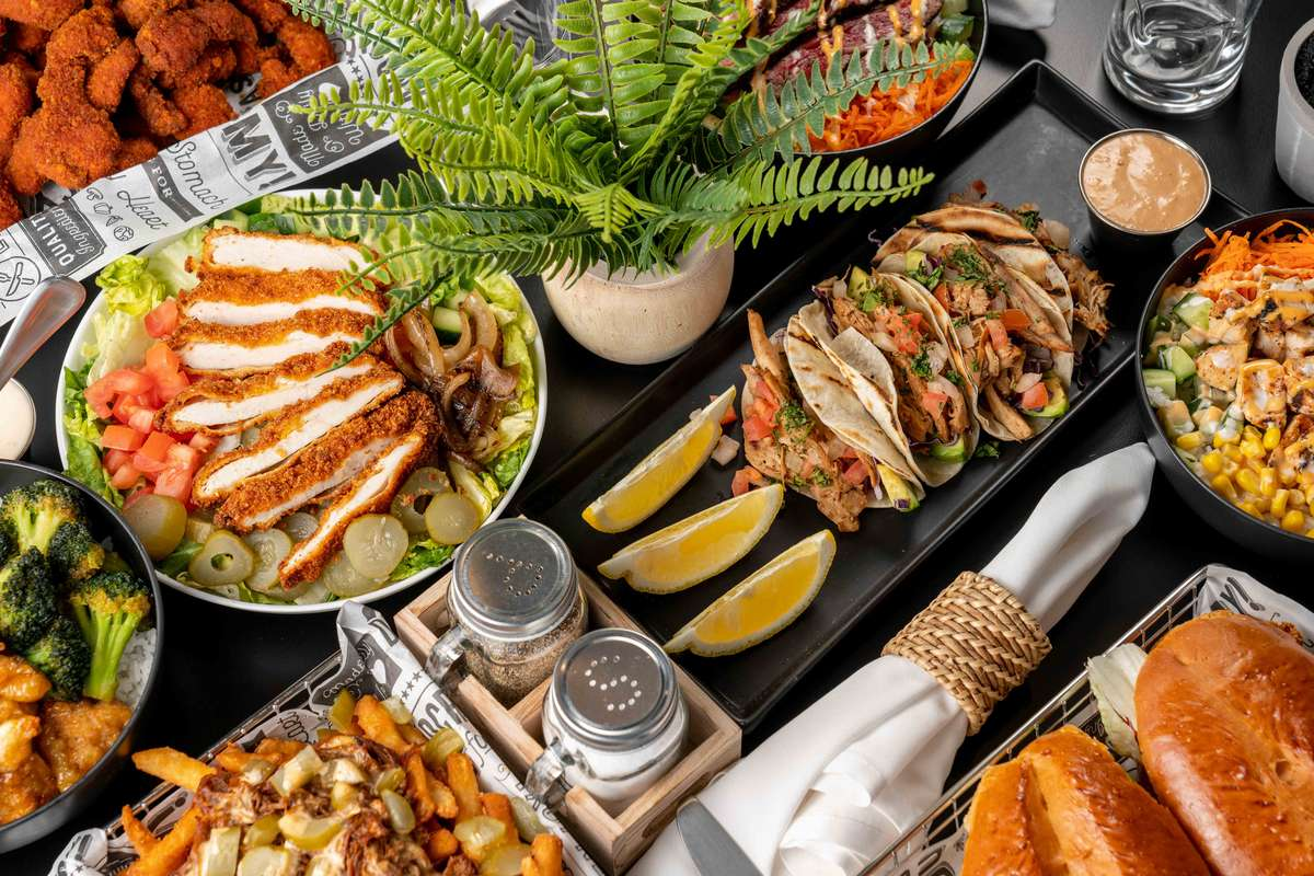 atico grill assorted dishes
