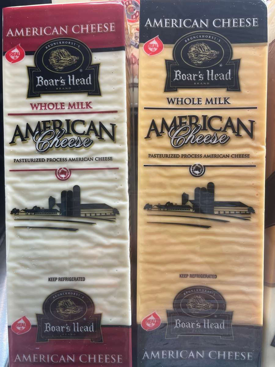 White or Yellow American Cheese