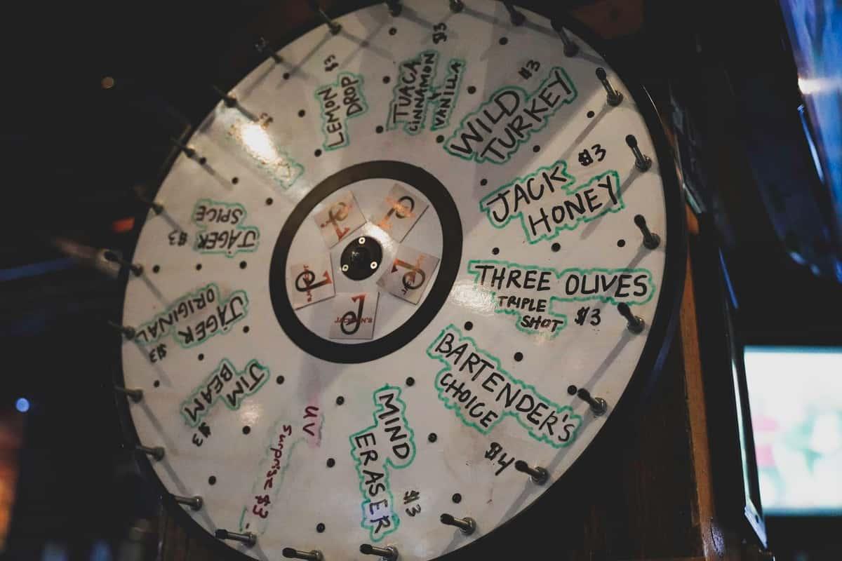 spinnable drink wheel