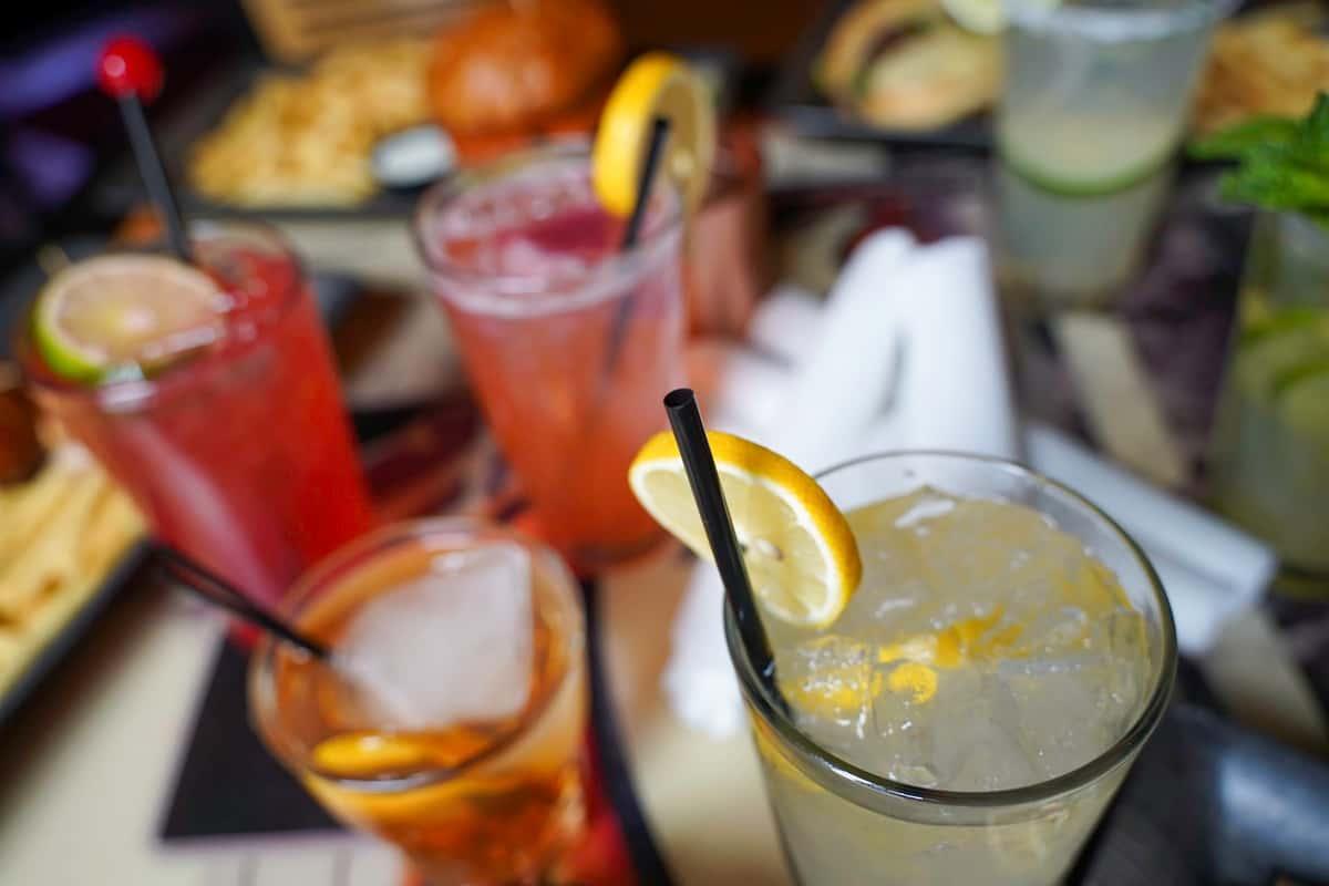 several cocktails