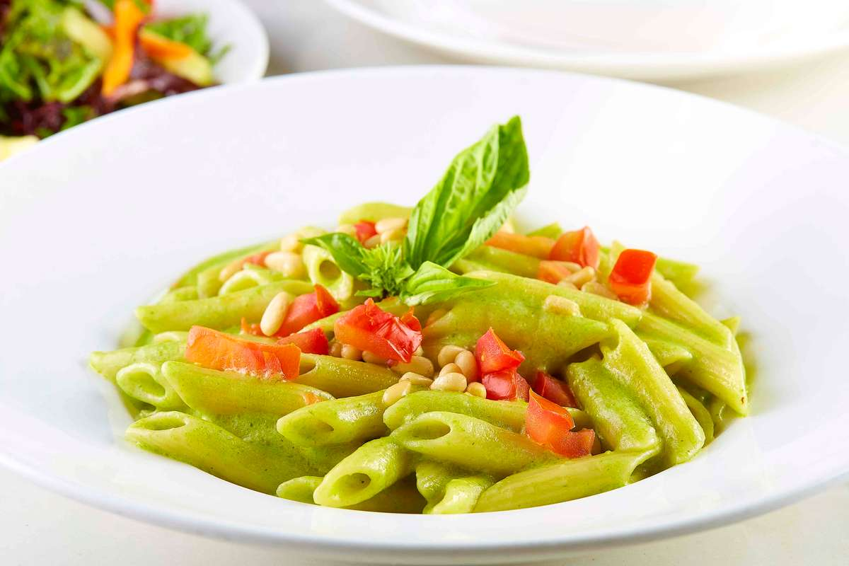 penne and pesto