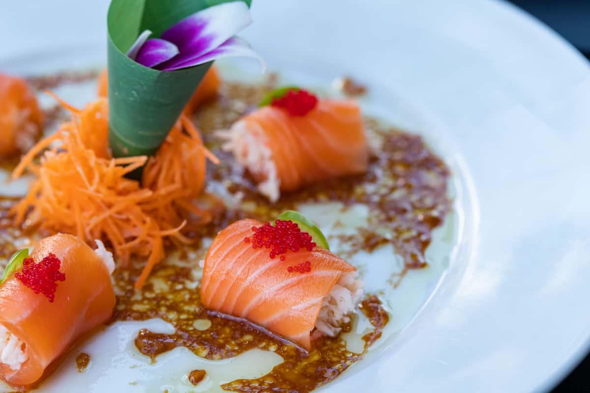 Truffle Salmon Sashimi