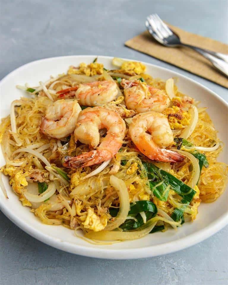 Shrimp and Crab Meat Glass Noodles - Miến Xào Tôm Cua