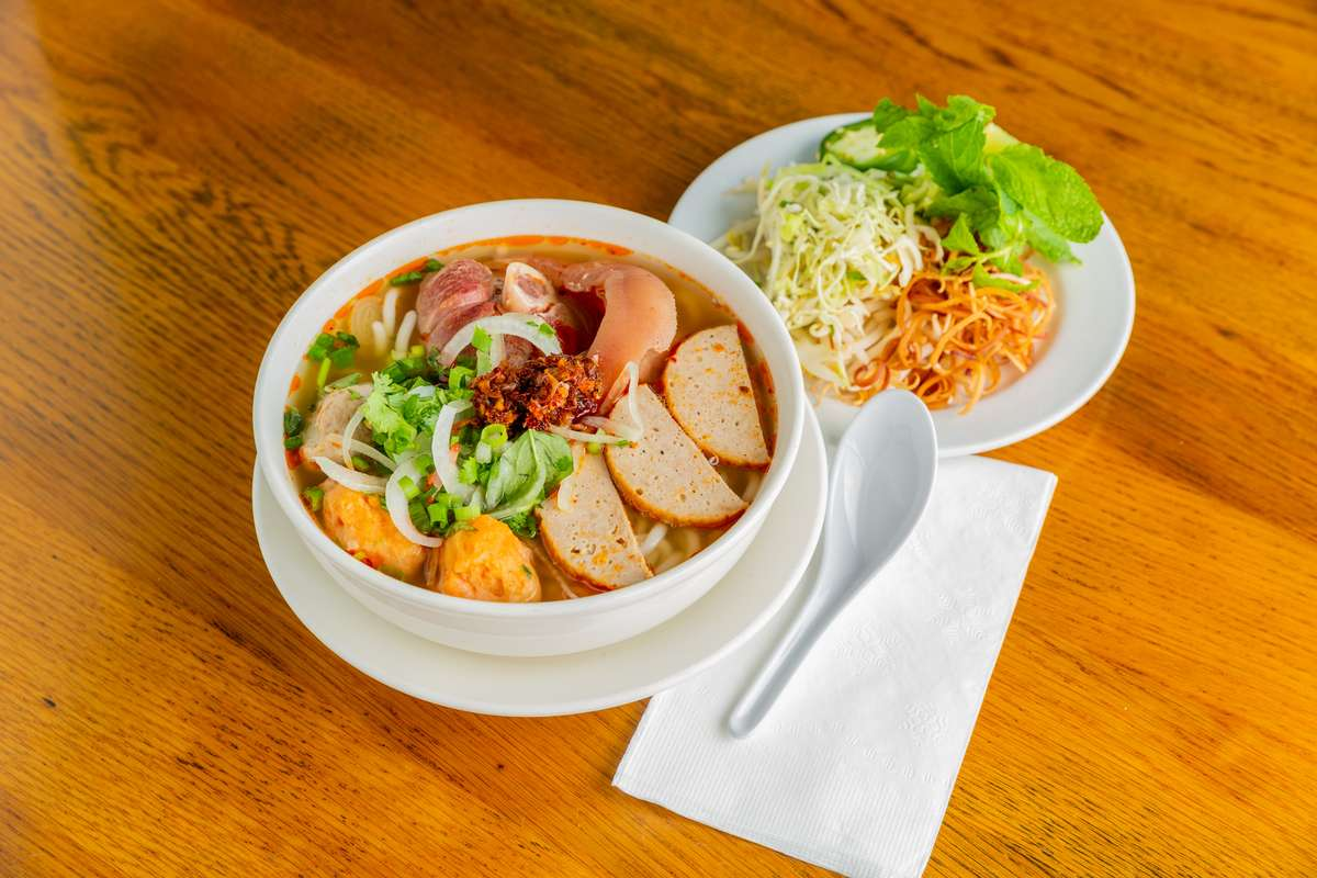 Spicy House Special Noodle Soup - Bún Chả, Tôm, Cua and Giò Heo