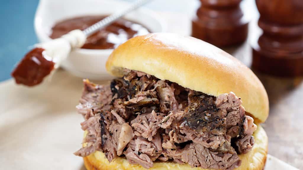 Beef Brisket Sandwich & Fries