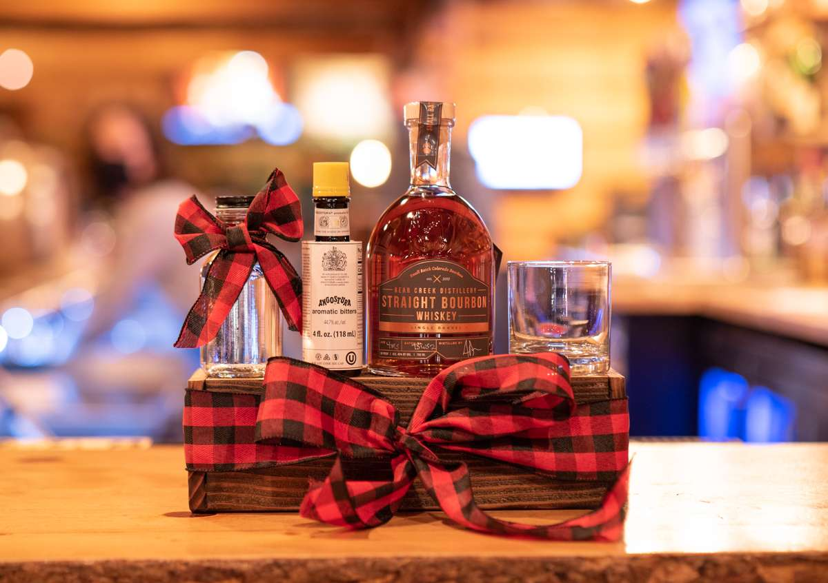 Old fashioned gift box
