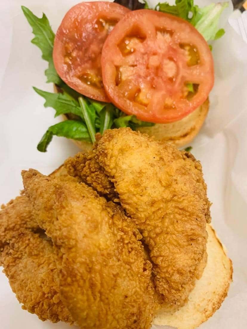 Fried Flounder Sandwich
