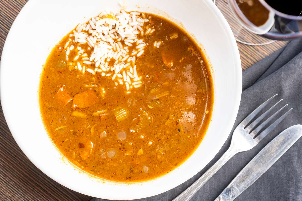 Chicken & Sausage Gumbo with Rice