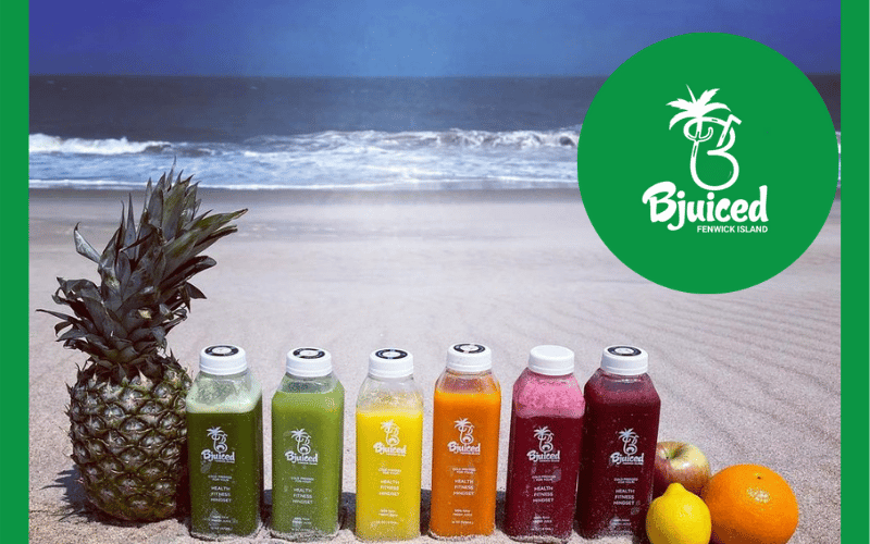 Bjuiced at the beach
