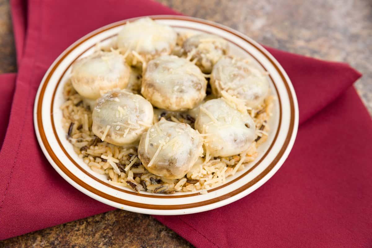 Venison Stuffed Mushrooms
