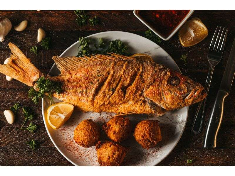Deep Fried Red Snapper Basket (whole fish)