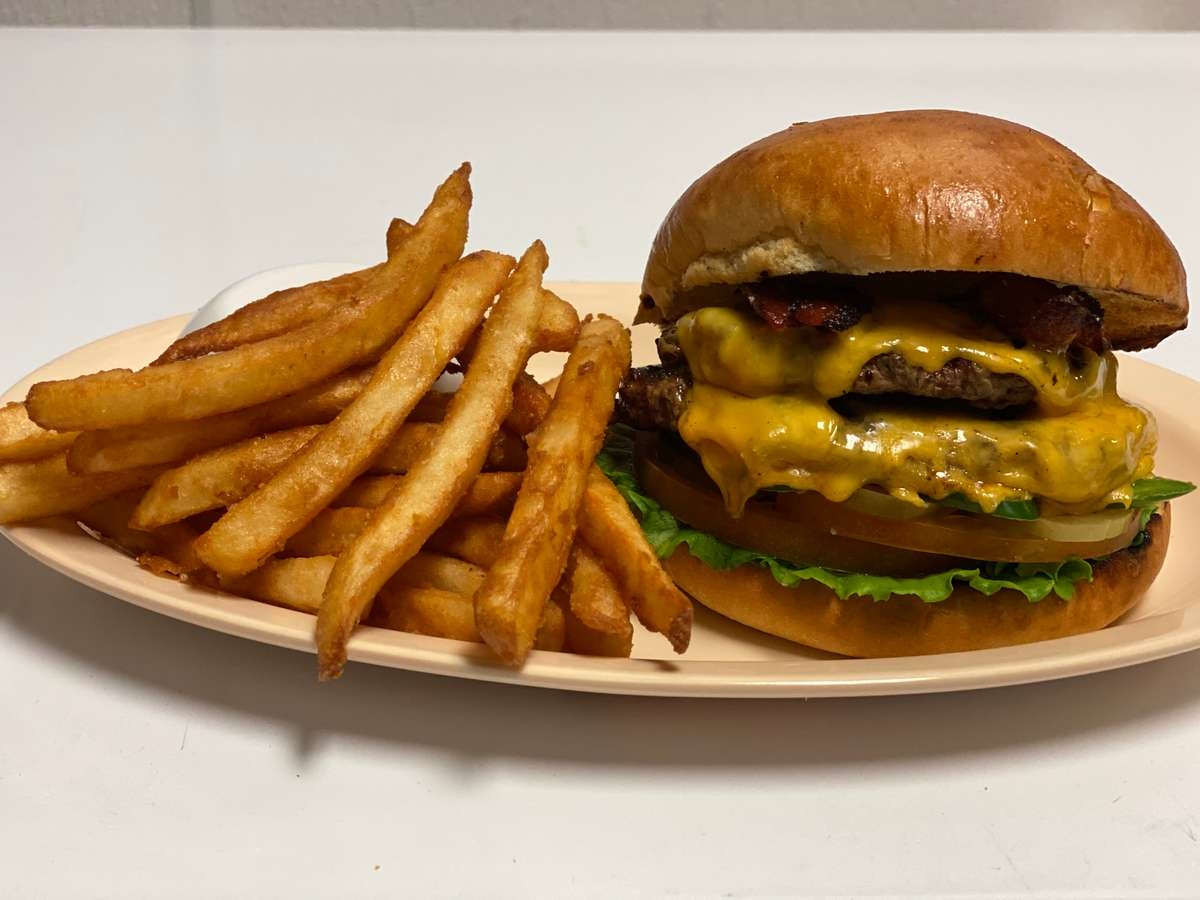 ATA Deluxe Burger with Side of Fries