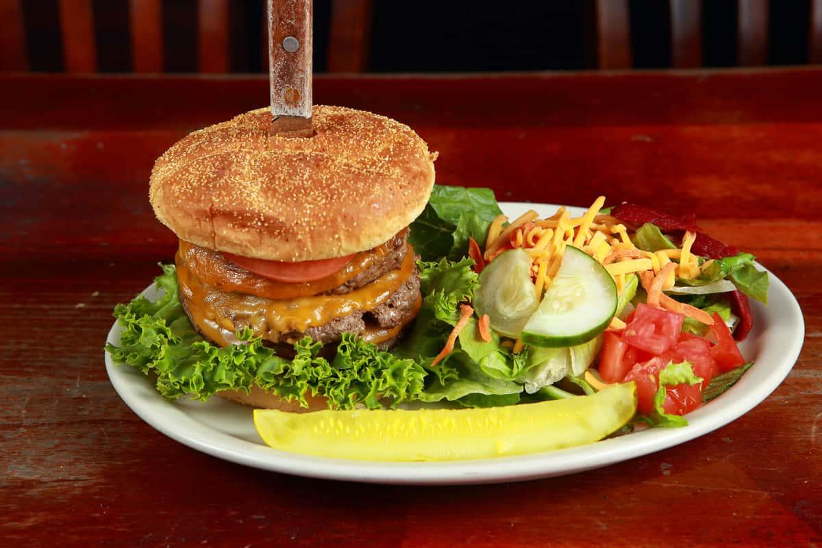 Triple Pyle Burger