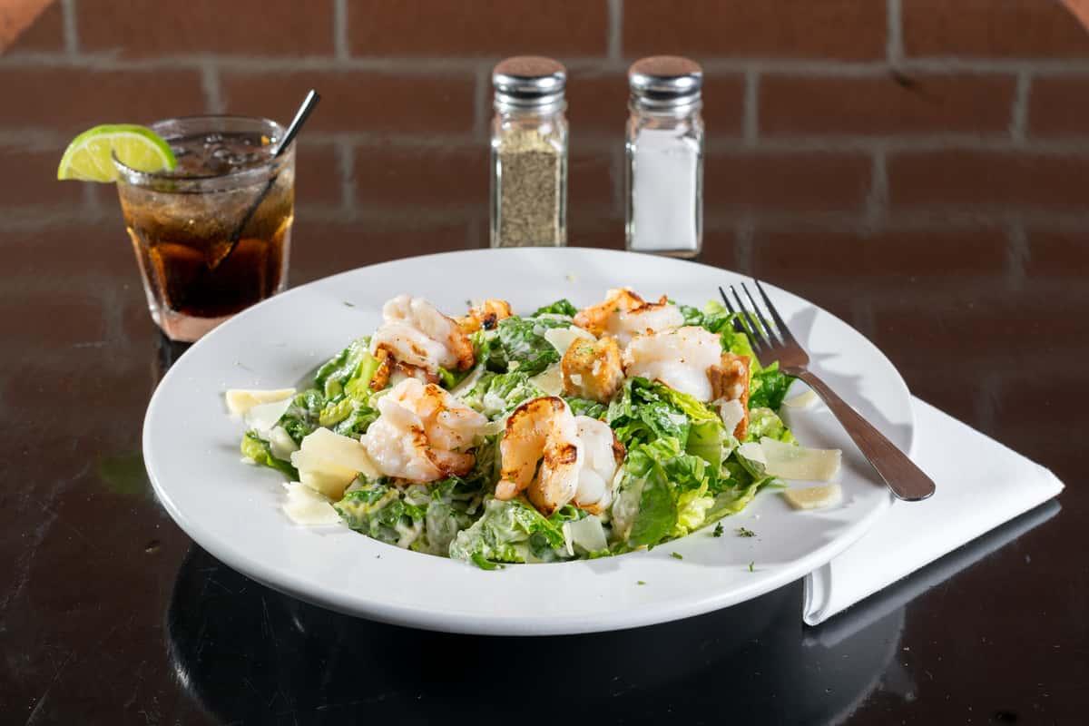 *Grilled Shrimp Caesar