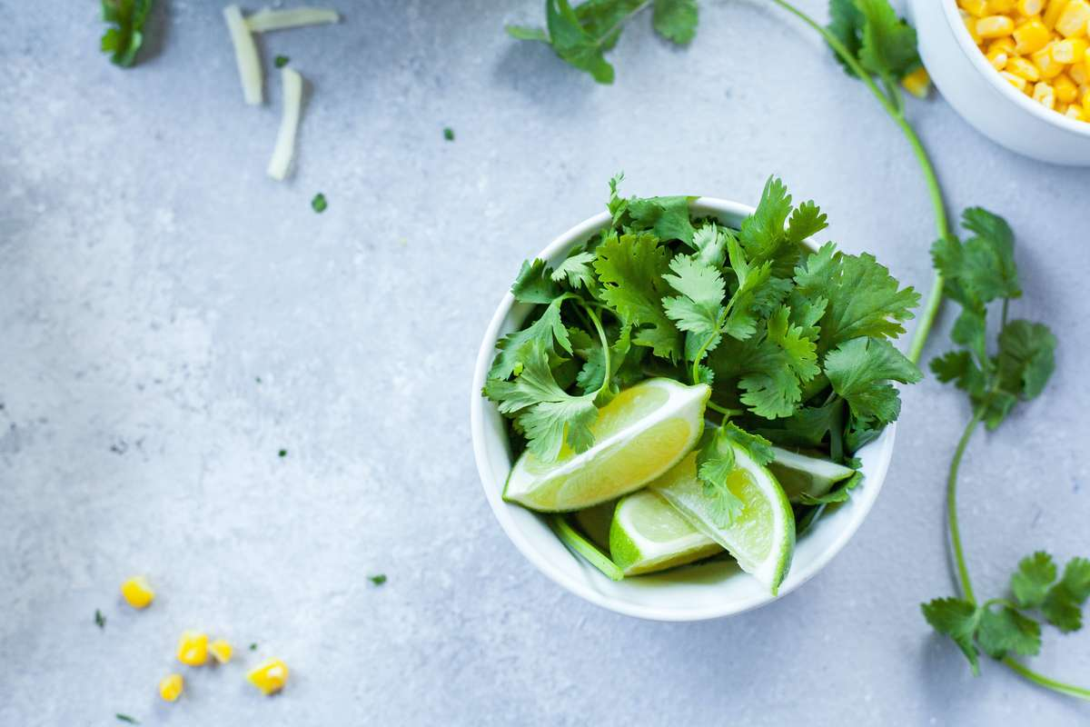 lime and cilantro