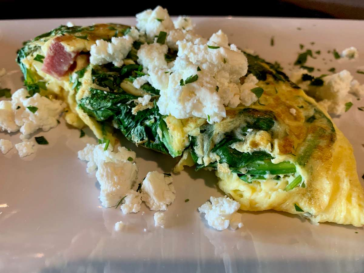 Spinach and Goat Cheese Omelette