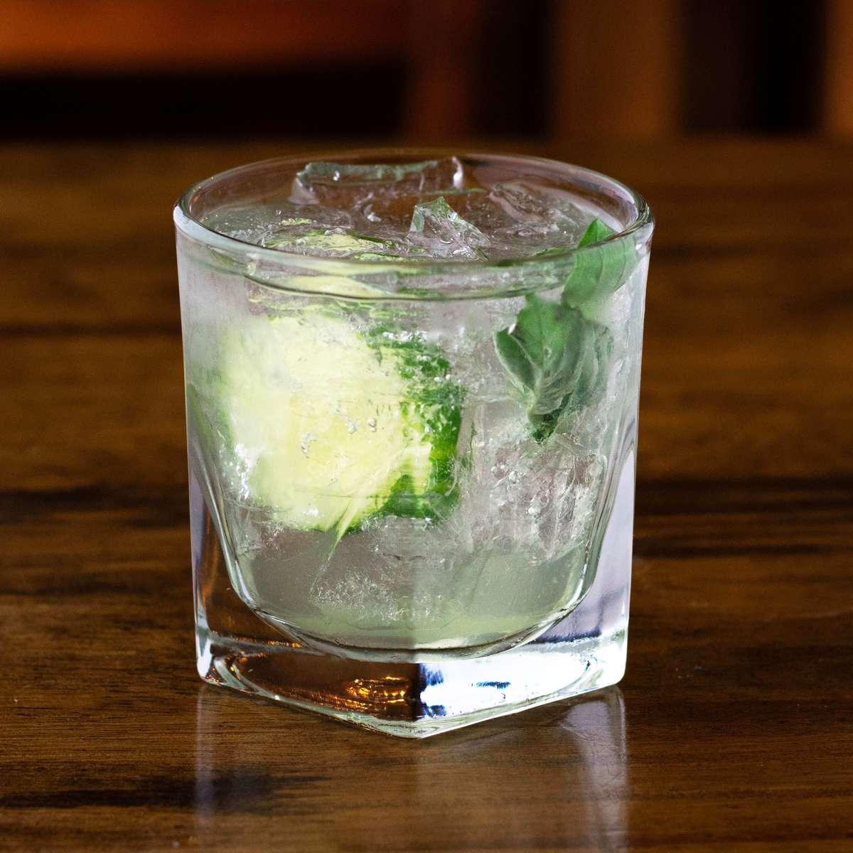Fresh Cucumber & Basil Gin Smash