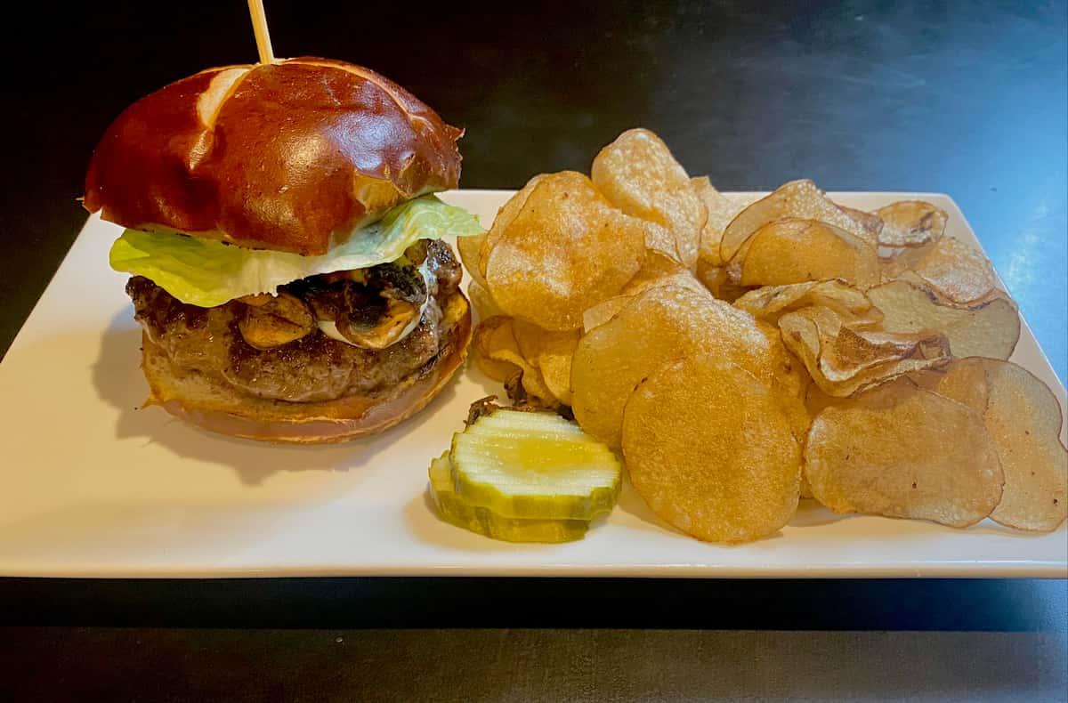 Weekly Burger Special~ Mozzarella & Mushroom
