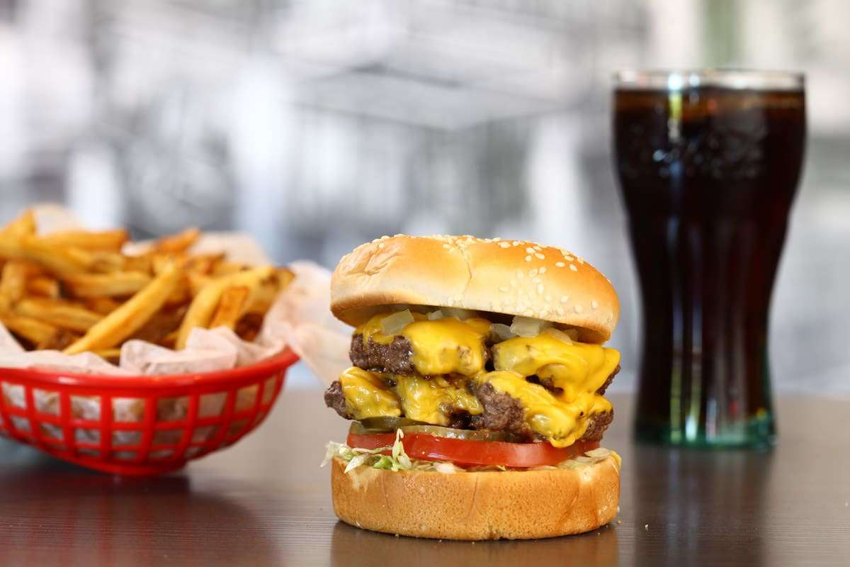 double angus burger combo buckhead