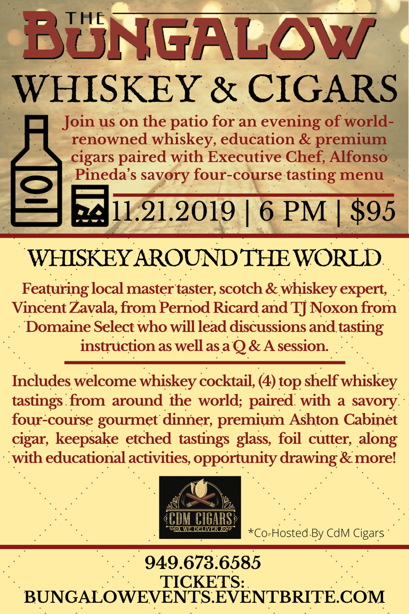 Whiskey Around The World Culinary Experience