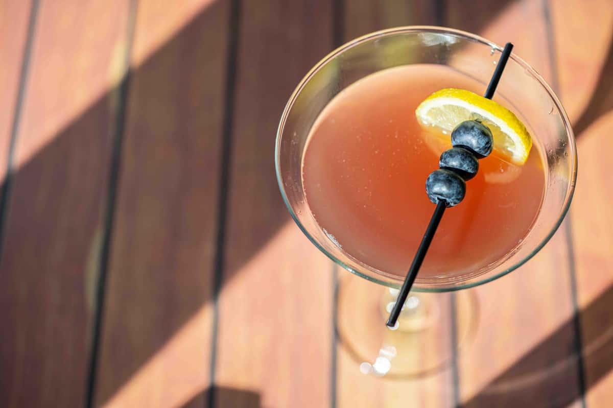 Blueberry Lemon Martini