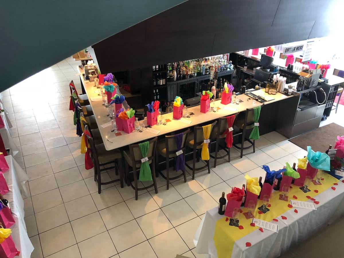 tables set up for function