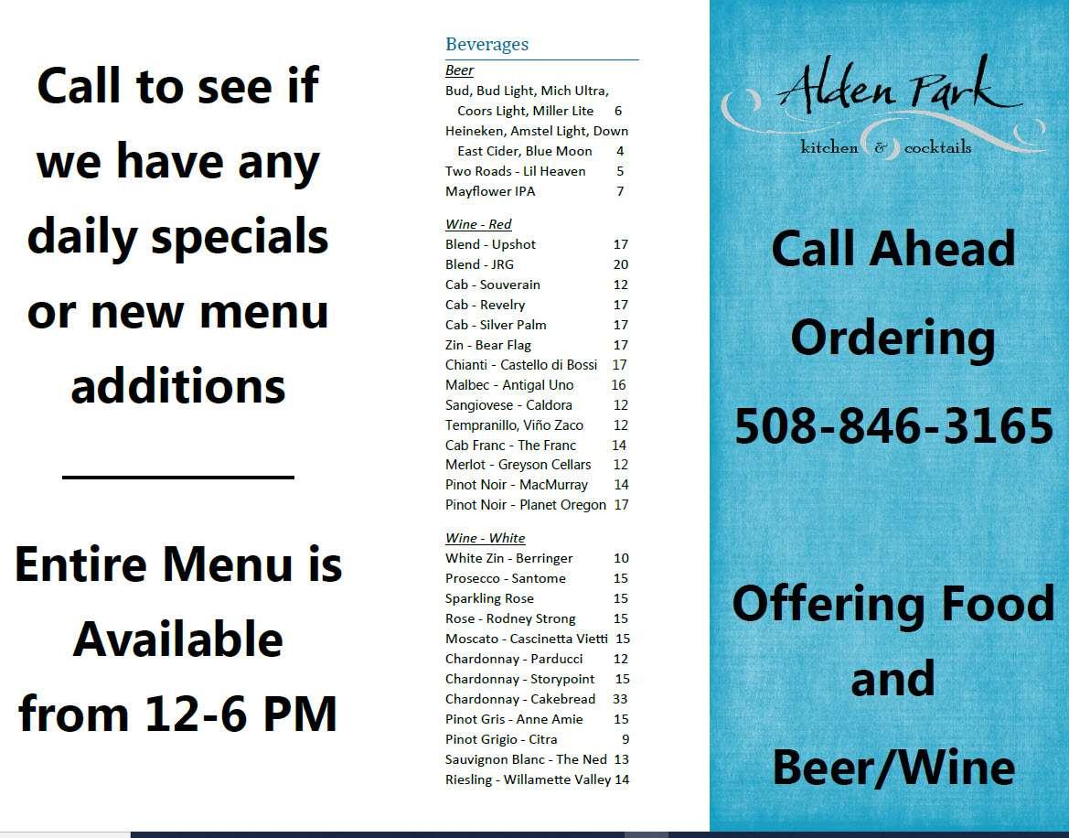 page two take out menu
