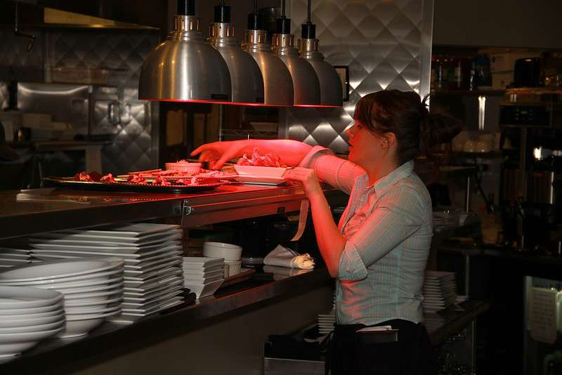 employee in kitchen