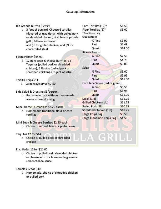 cater menu2