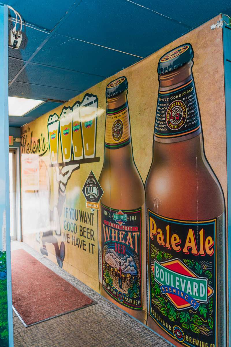 beer mural