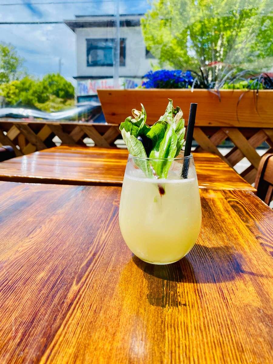 Pineapple-Basil Margarita
