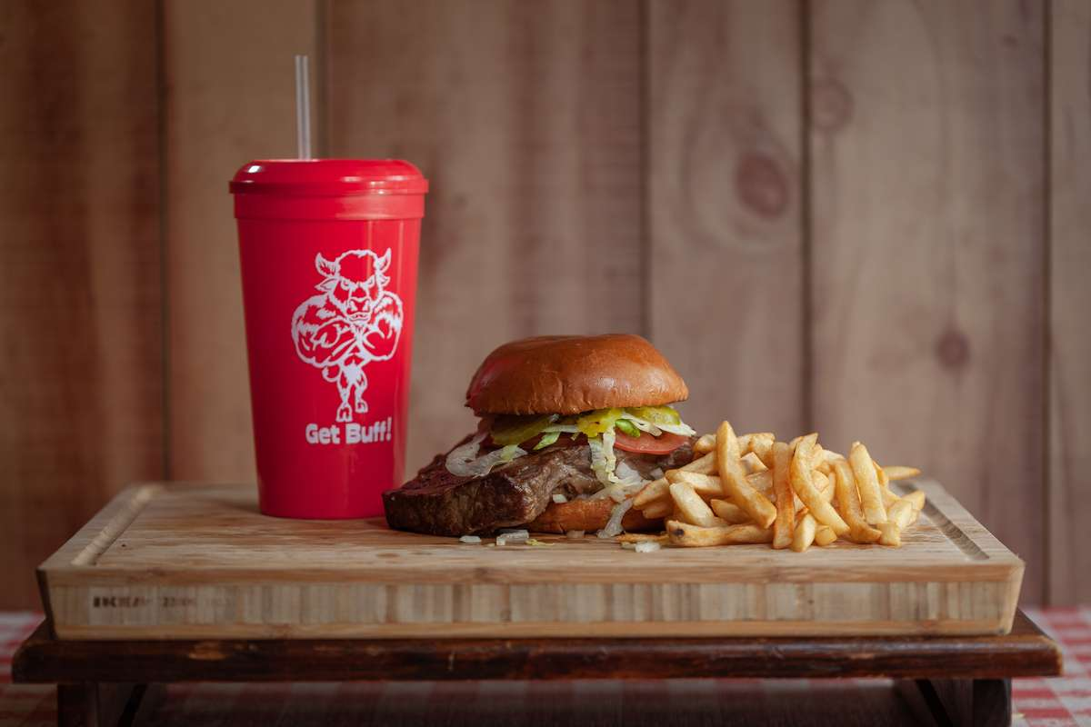 Ribeyes & Fries Day Burger
