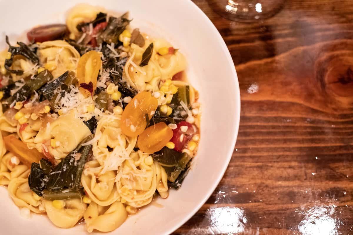 Tortellini & Spinach