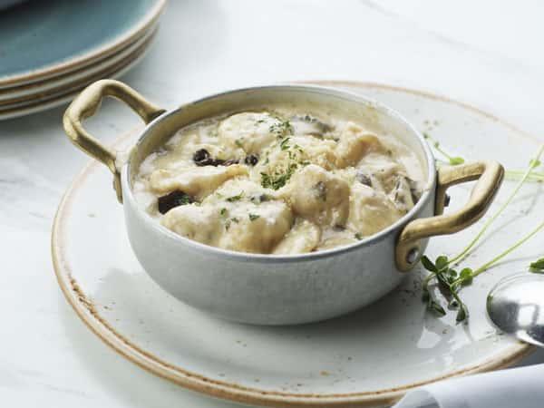 Gnocchi in Mushroom Cream