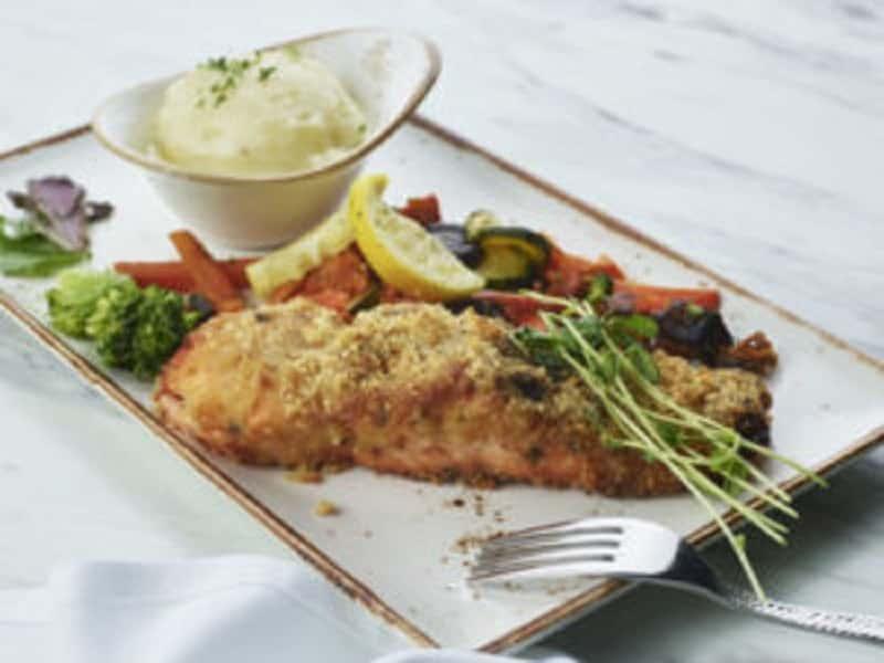 Breadedcrumb Salmon Side Catering