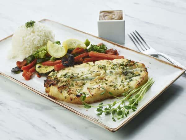 Lemon Garlic Sea Bass