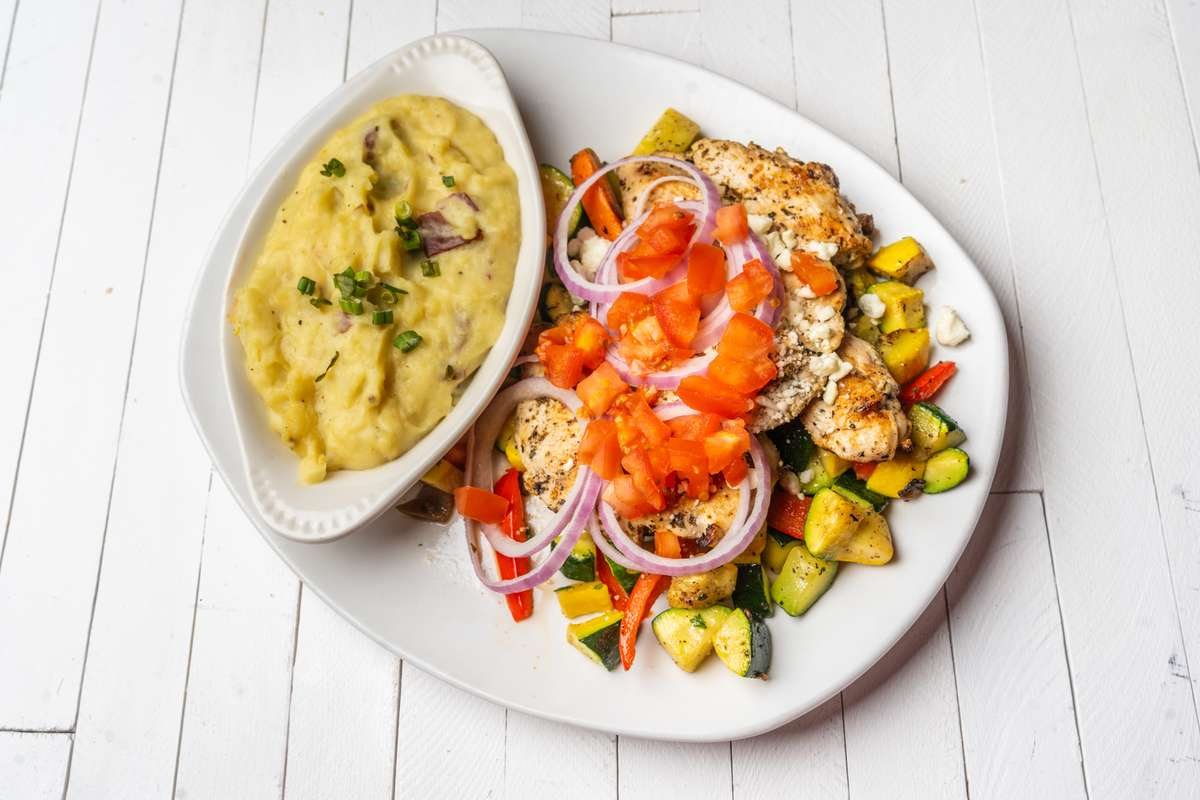 Grilled Grecian Chicken Breasts