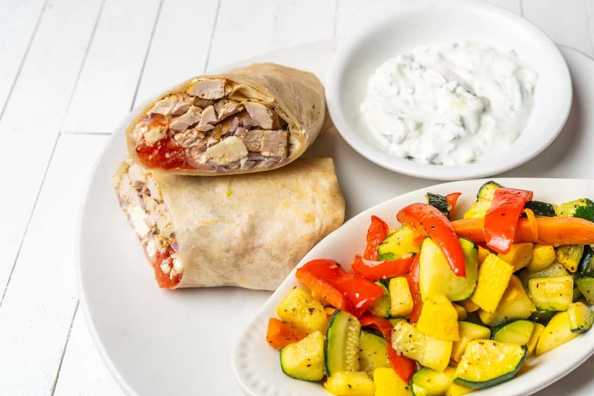 Chicken Grecian Wrap